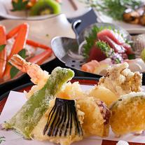 <熱々サクサク天ぷら会席>★自慢の天ぷらをもっと食べたい!の声にお応えした季節野菜と旬魚の天ぷら会席
